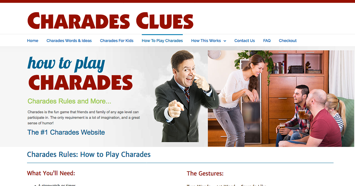 How To Play Charades - Charades Clues