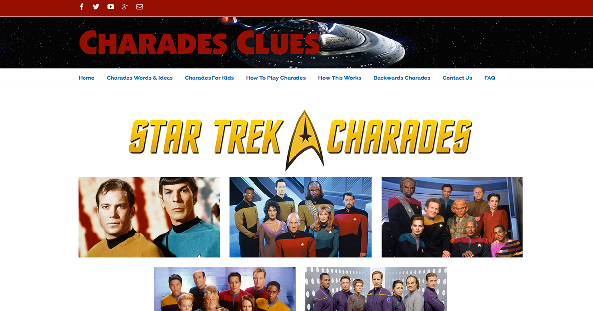 Star Trek Charades Clues and Ideas  Everything you need in one place!